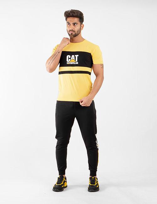 ست تیشرت و شلوار مردانه Cat مدل 14440